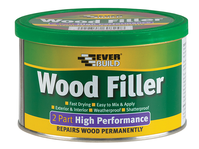 Everbuild Wood Filler High Performance 2 Part White 500g EVBHPWFWH500