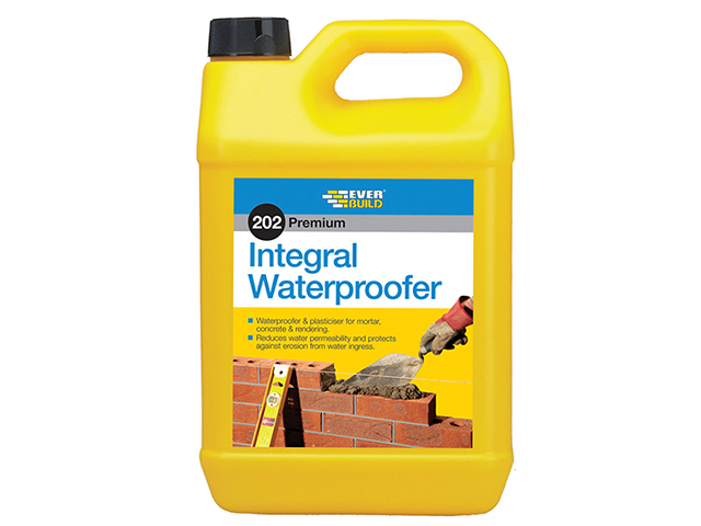 Everbuild 202 Integral Liquid Waterproofer 5 litre EVBILW5L