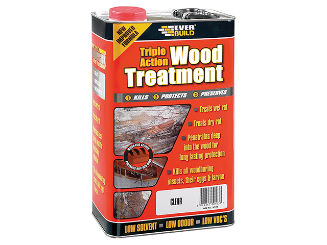 Everbuild Triple Action Wood Treatment 5 Litre EVBLJUN05