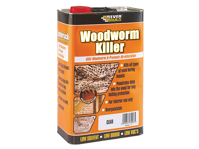 Everbuild Woodworm Killer 5 Litre EVBLJWORM05