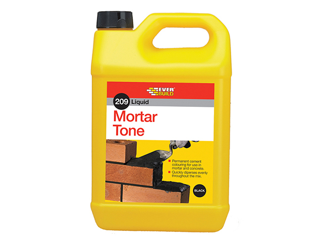 Everbuild Liquid 209 Mortar Tone Black 1 litre EVBLMTBK1