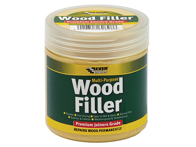 Everbuild Multi-Purpose Premium Joiners Grade Wood Filler Medium Stainable 250ml EVBMPWFMS250