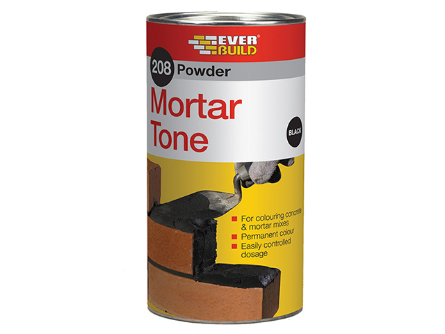 Everbuild 208 Powder Mortar Tone Black 1kg EVBPMTBK1