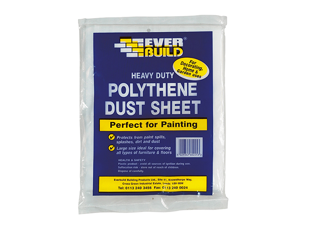 Everbuild Polythene Dust Sheet 3.6 x 2.7m EVBPOLYDS129