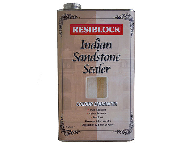 Everbuild Resiblock Indian Sandstone Sealer Colour Enhancer 5 Litre EVBRBINDENH5