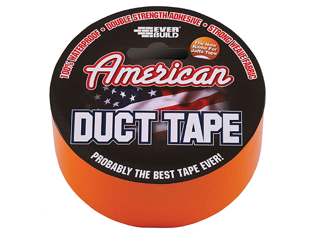 Everbuild American Duct Tape Orange 50mm x 25m EVBUSDTO25M