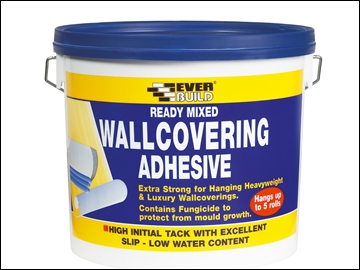 Everbuild Ready Mixed Wallcovering Adhesive 4.5kg EVBWALLRD4