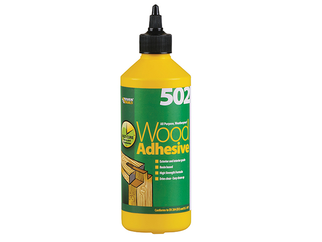 Everbuild 502 All Purpose Weatherproof Wood Adhesive 500ml EVBWOOD05