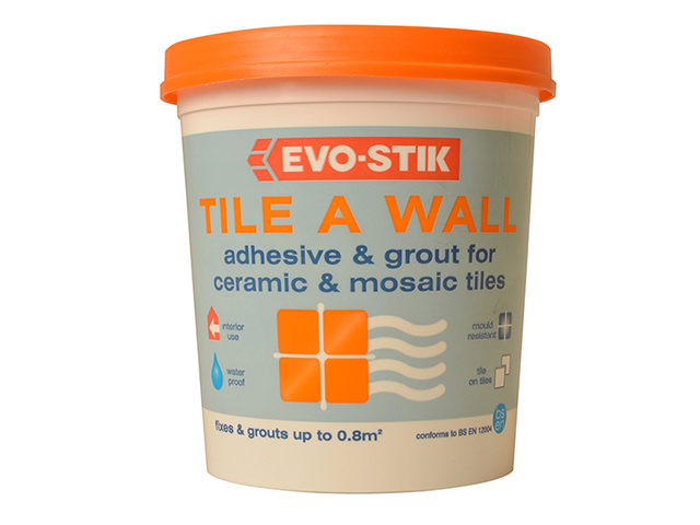 Evo-Stik Mould Resistant Wall Tile Adhesive & Grout 1 Litre EVO416512