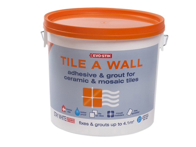 Evo-Stik Mould Resistant Wall Tile Adhesive & Grout 2.5 Litre EVO416529