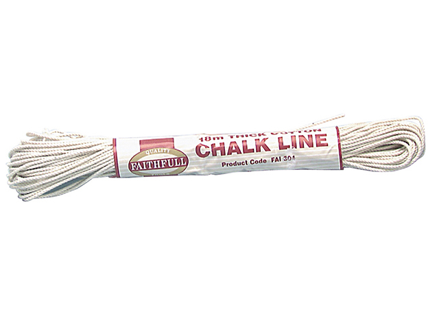 Faithfull 304 Thick Cotton Chalk Line 18m (Box of 12) FAI304