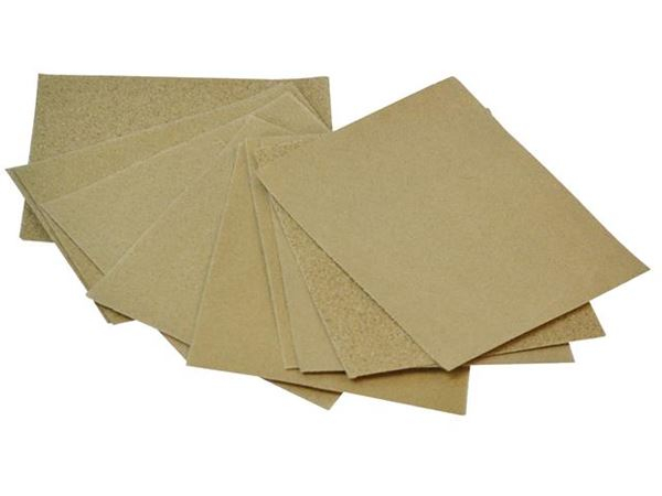Faithfull Cork Block Glasspaper Sanding Sheets Assorted (Pack 10) FAIACBGPA