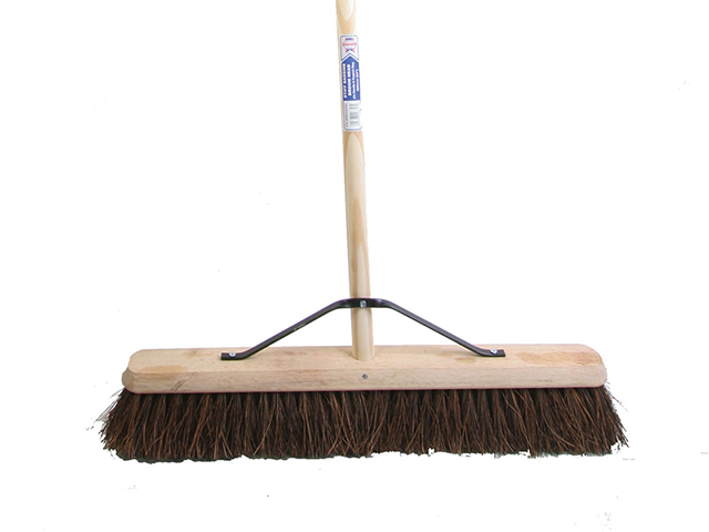 Faithfull Stiff Bassine Broom 60cm (24in) + Handle & Stay FAIBRBAS24H