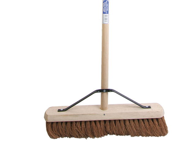 Faithfull Broom Soft Coco 45cm (18in) + Handle & Stay FAIBRCOCO18H