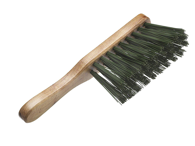 Faithfull Stiff Green PVC Hand Brush 275mm (11in) FAIBRHANDSTI