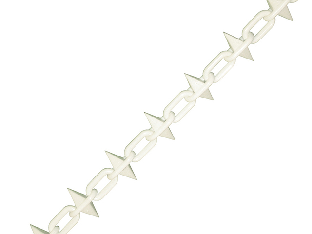 Faithfull Plastic Chain 6mm x 12.5m White Spiked FAICHPLWS612