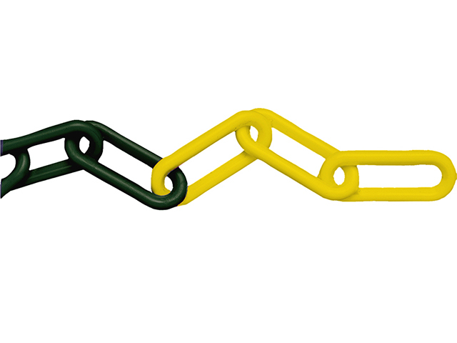 Faithfull Plastic Chain 8mm x 12.5m Yellow / Black FAICHPYB812C