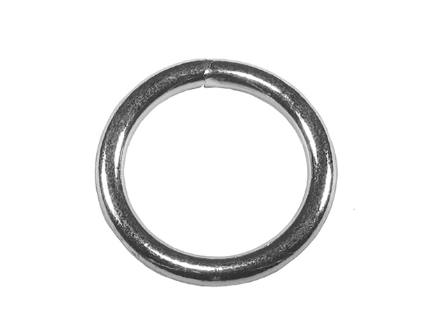 Faithfull Zinc Plated Welded Rings 6mm (Pack of 4) FAICHWR60