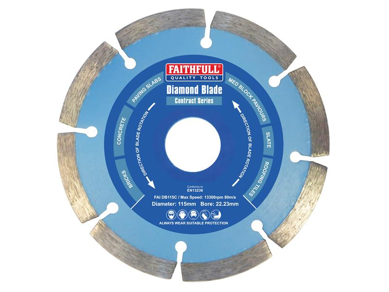 Faithfull Contract Diamond Blade 115 x 22.2mm FAIDB115C