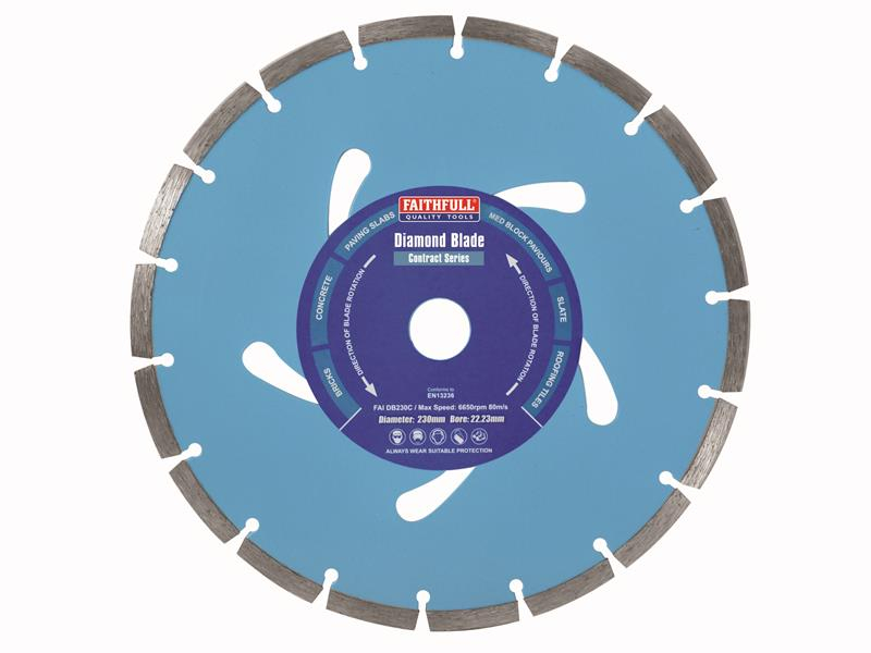 Faithfull Contract Diamond Blade 230 x 22.2mm FAIDB230C