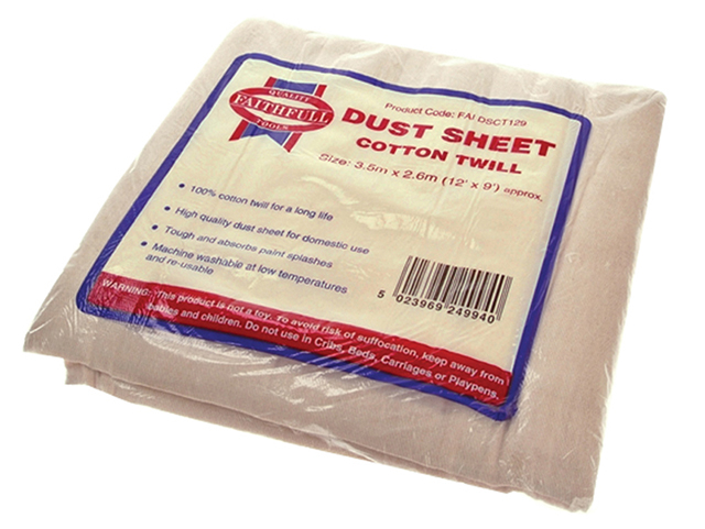 Faithfull Cotton Twill Dust Sheet 3.6 x 2.7m FAIDSCT129