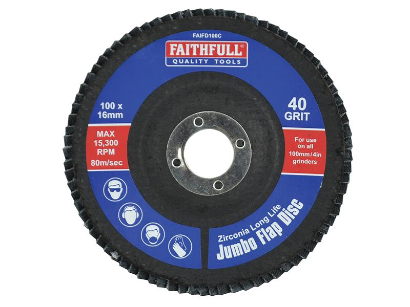 Faithfull Flap Disc 100mm Coarse FAIFD100C