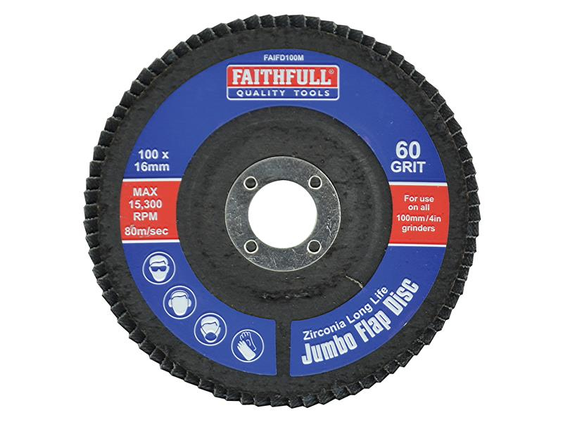 Faithfull Flap Disc 100mm Medium FAIFD100M