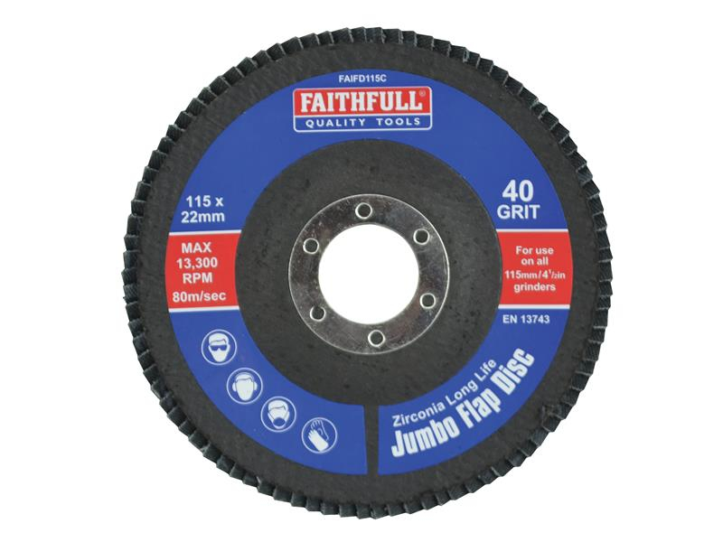 Faithfull Flap Disc 115mm Coarse FAIFD115C