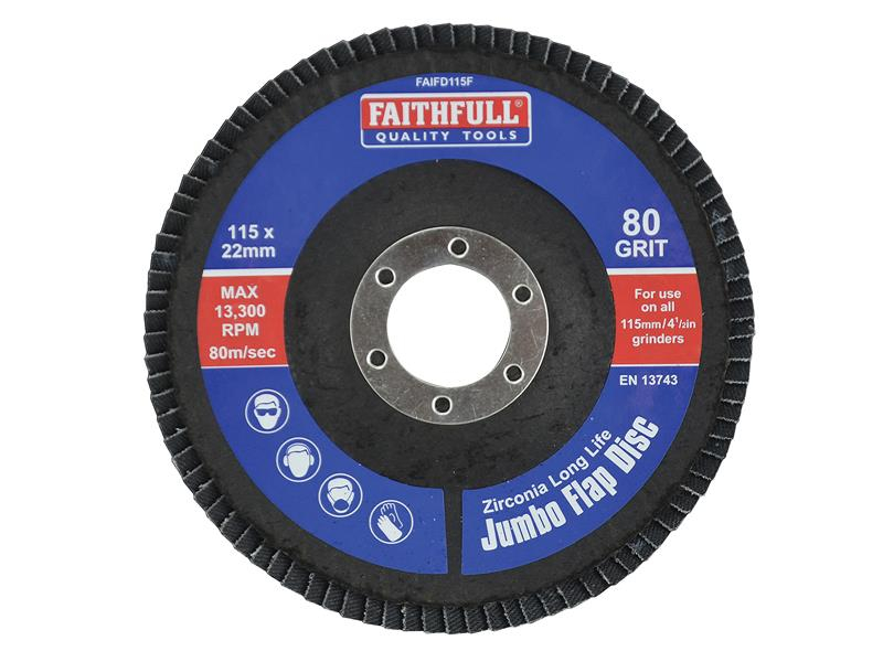 Faithfull Flap Disc 115mm Fine FAIFD115F