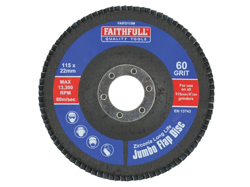 Faithfull Flap Disc 115mm Medium FAIFD115M