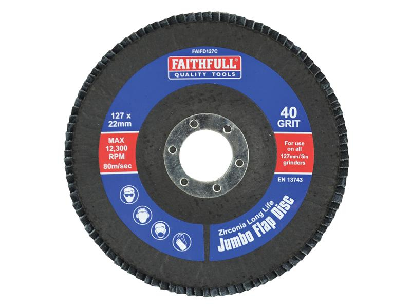 Faithfull Flap Disc 127mm Coarse FAIFD127C