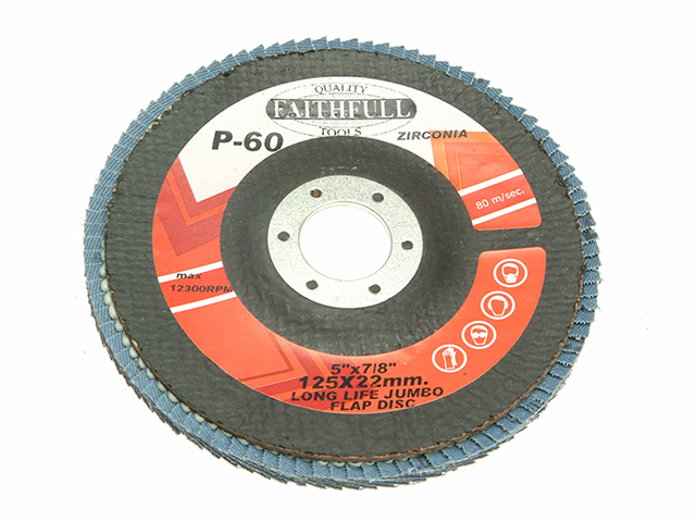 Faithfull Flap Disc 127mm Fine FAIFD127F