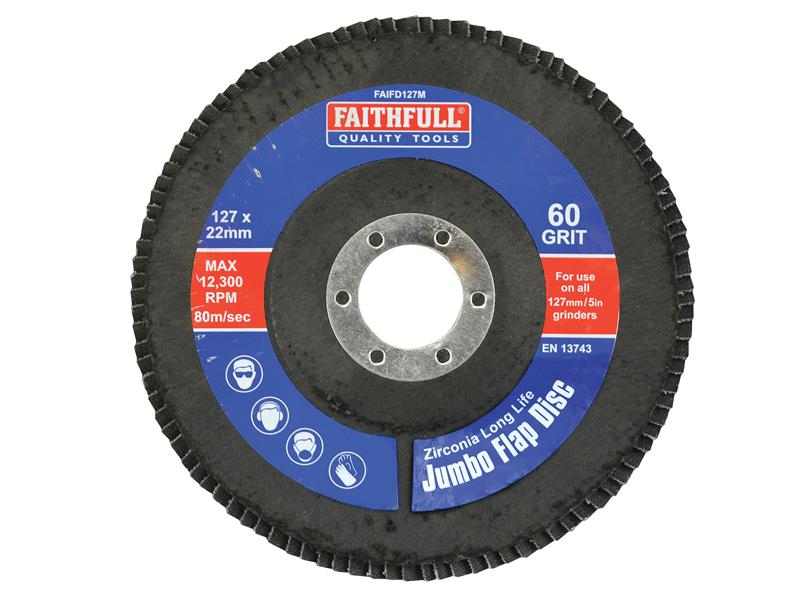 Faithfull Flap Disc 127mm Medium FAIFD127M