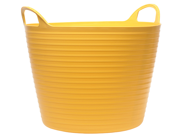 Faithfull Heavy-Duty Polyethylene Flex Tub 15 litres Yellow FAIFLEX15Y