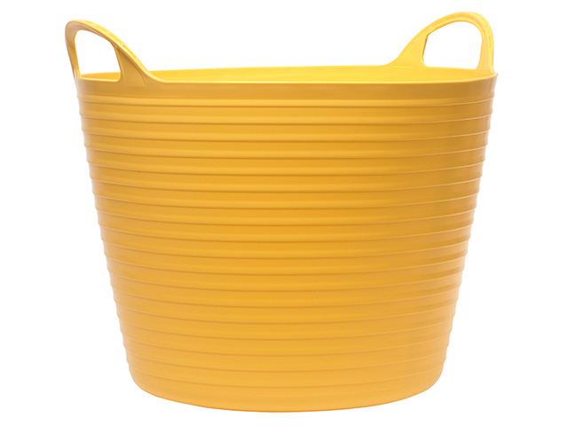 Faithfull Heavy-Duty Polyethylene Flex Tub 28 litres Yellow FAIFLEX28Y
