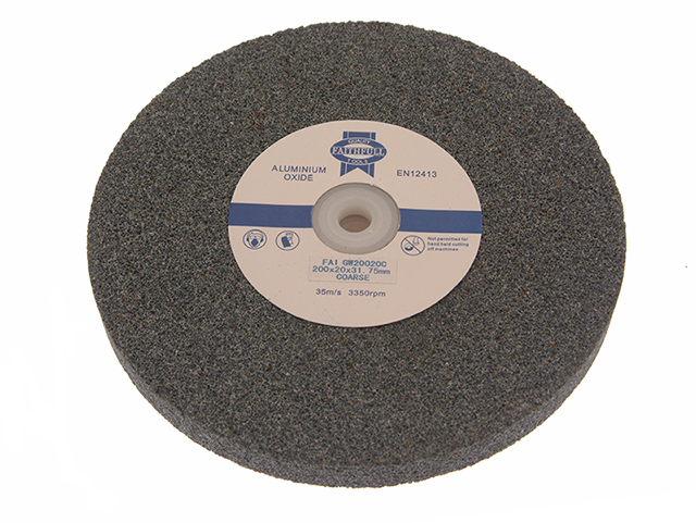 Faithfull General Purpose Grinding Wheel 200 x 20mm Coarse Alox FAIGW20020C