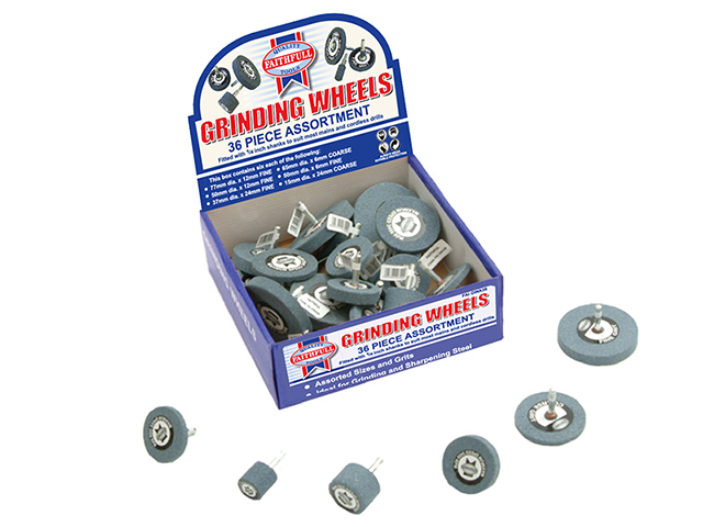Faithfull Grinding Wheel Assortment 36 Piece FAIGWA36