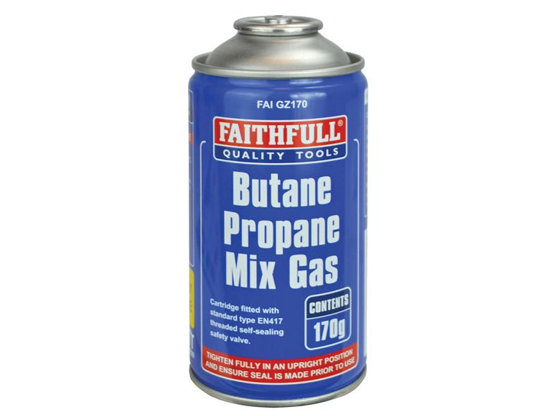Faithfull Butane Propane Gas Cartridge 170g FAIGZ170