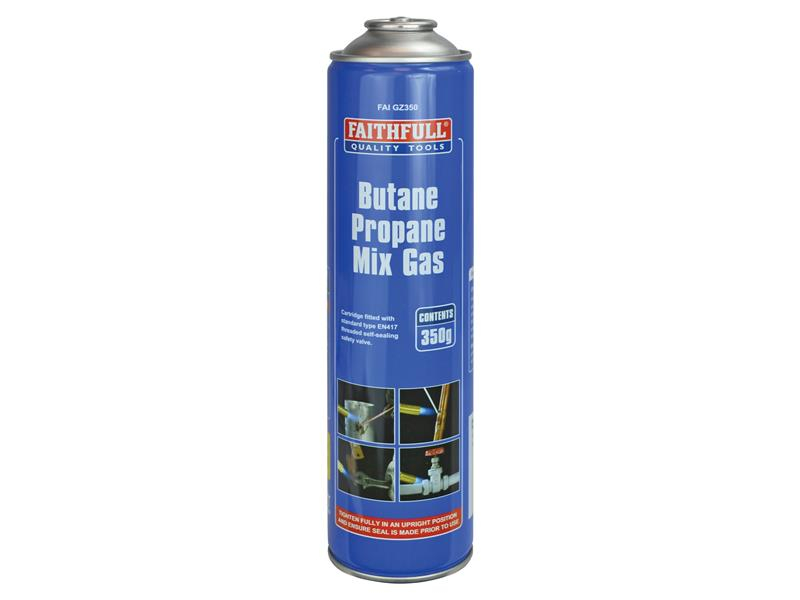 Faithfull Butane Propane Gas Cartridge 350g FAIGZ350