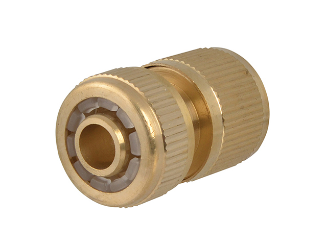 Faithfull Brass Female Water Stop Connector 12.5mm (1/2in) FAIHOSEWC