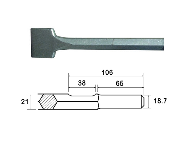 Faithfull Kango Shank Straight Scaling Chisel 75 x 300mm FAIKAGSC75