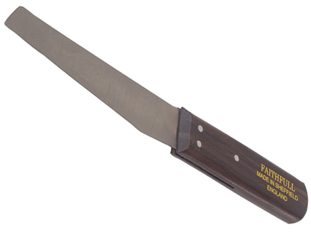 Faithfull Shoe Knife 112mm (4.3/8in) - Hardwood Handle FAIKSHOER