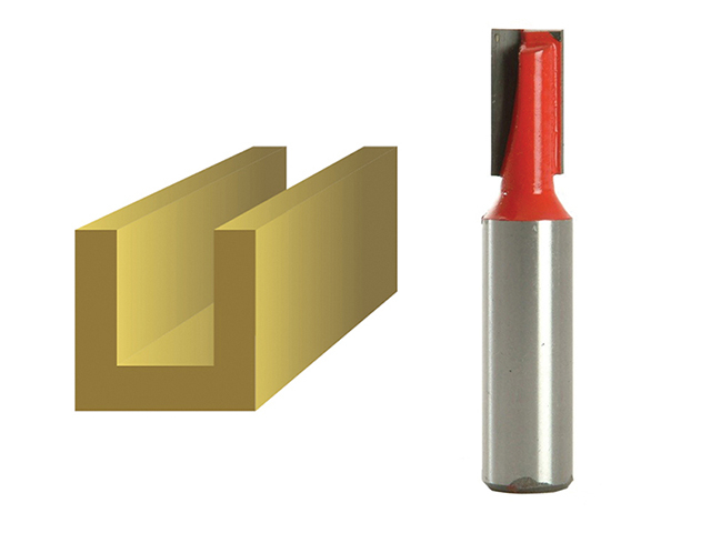Faithfull Router Bit TCT Two Flute 10.0mm x 19mm 1/2in Shank FAIRB220