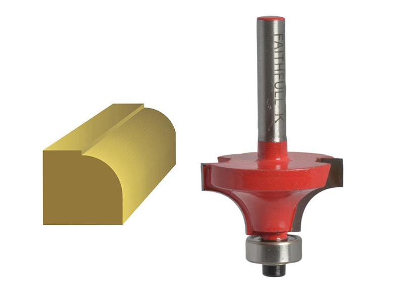 Faithfull Router Bit TCT Rounding Over 1/4in Shank 15.8mm x 9.5mm FAIRB41