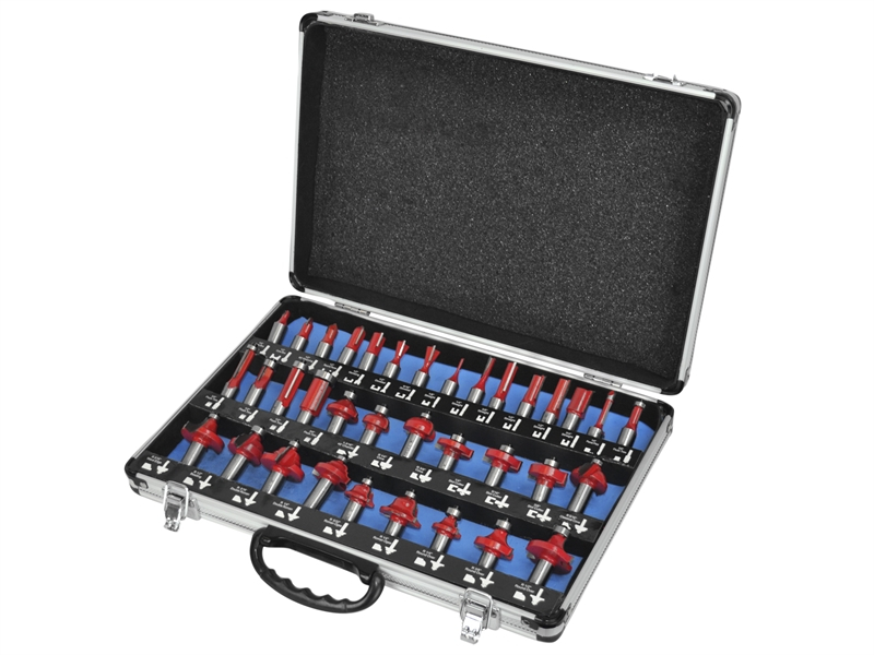 Faithfull Router Bit Set of 35 TCT 1/2in Shank FAIRBS35