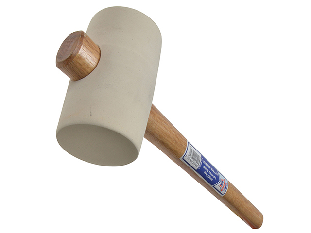 Faithfull Rubber Mallet - White 794g (28oz) FAIRMW3