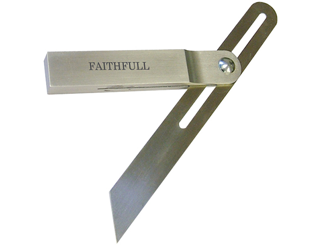 Faithfull Aluminium Sliding Bevel Stainless Steel Blade 250mm (10in) FAISB250SS