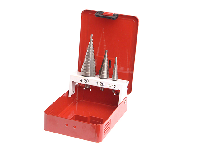 HSS Step Drill Bit Set of 3 4-30mm