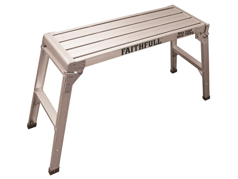 Faithfull Fold Away Step Up Aluminium L100 x H52 x W30cm FAISTEPUP3