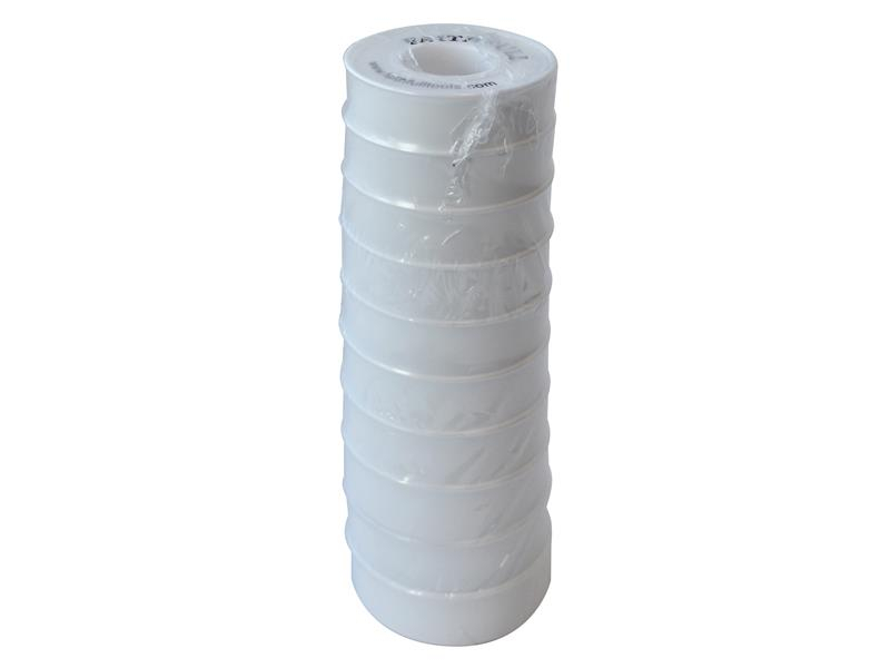 Faithfull P.T.F.E Tape 12mm x 12m White (Pack 10) FAITAPEPTF10